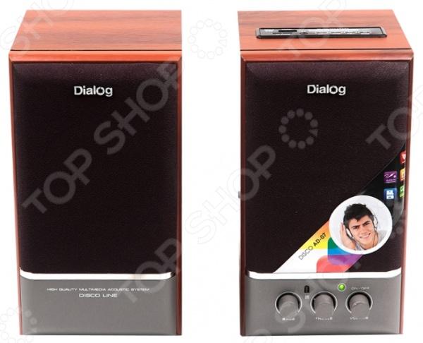 Колонки Dialog AD-07 колонки dialog disco ad 07 2x12вт черный