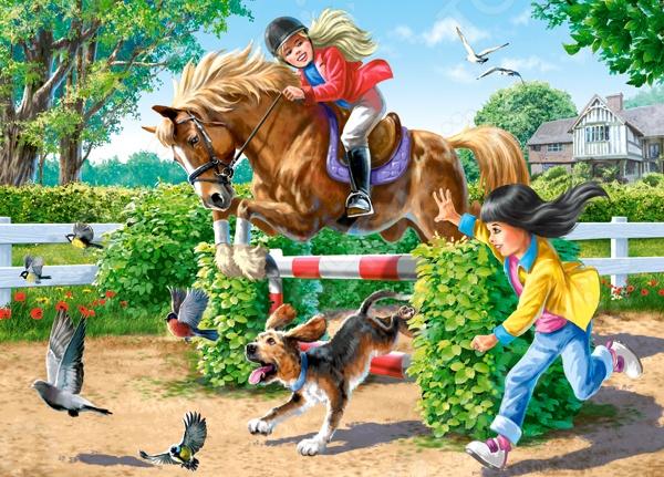 Пазл 180 элементов Castorland «Верховая езда»Пазлы (101–500 элементов)<br>Пазл 180 элементов Castorland Верховая езда для развлечения и приятного времяпрепровождения. Пазл предназначен для детей, но в его сборке могут участвовать и взрослые. Это отличное решение для развлечения во время длинной поездки или досуга. С помощью сборки пазла можно развить у ребенка внимание, наблюдательность и конечно же логическое мышление. Для более продуманной сборки стоит прочитать и изучить инструкцию. В ней можно найти кучу интересных приёмов и подсказок. Продукция выполнена из высококачественных материалов и не содержат токсичных веществ. В комплекте: 180 деталей MIDI.<br>