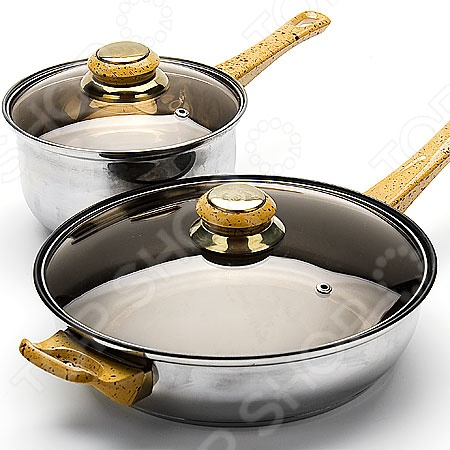 Набор посуды для готовки Mayer&amp;amp;Boch MB-6080-3Наборы посуды для готовки<br>Набор посуды для готовки Mayer Boch MB-6080-3 станет отличным дополнением к набору вашей кухонной утвари. Посуда функциональна и универсальна в использовании, подойдет для варки супов, гарниров, макарон, овощей, компотов и т.д. Кастрюли выполнены из высококачественной нержавеющей стали, а внутренняя поверхность идеально ровная, что облегчает ручное мытьё. Такой материал не вступающим в реакции с продуктами и не искажающим вкус приготовленных блюд. Крышки изготовлены из закаленного жаростойкого стекла, снабжены металлическим ободком для защиты от сколов и пароотводом. При необходимости посуда легко моется в посудомоечной машине.<br>