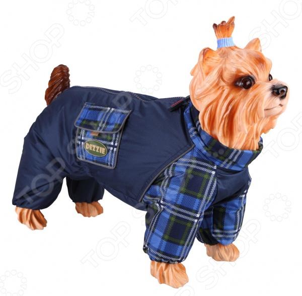 Комбинезон-дождевик для собак DEZZIE «Пекинес». Цвет: синий дождевик для собак