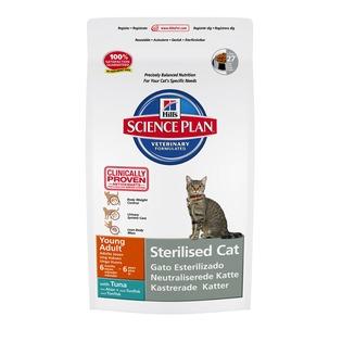 Купить Корм сухой для стерилизованных кошек Hill's Science Plan Sterilised Young Adult с тунцом