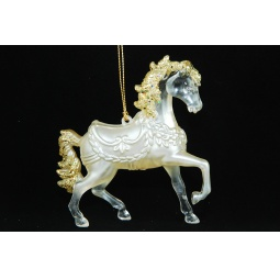 фото Елочное украшение Crystal Deco «Лошадь». Цвет: золотистый