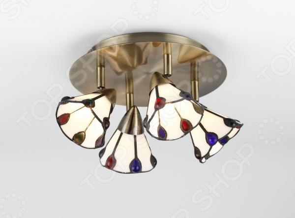 Светильник потолочный Rivoli Garrison-С-4 это светильник, способный служить как дополнительным, так и основным источником света в небольшой комнате . Потолочный светильник подходит для комнаты с низким потолком, поскольку занимает совсем немного места. Дизайн светильника это важный акцент интерьера. Вместе с бра или подсветкой он создает интересный световой ансамбль, преображающий комнату.