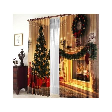 Шторы «Рождество у камина»