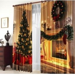 Купить Шторы «Рождество у камина»