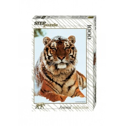 фото Пазл 1000 элементов Step Puzzle Тигр на снегу