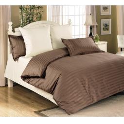 фото Комплект постельного белья Королевское Искушение «Мокко». 2-спальный. Размер простыни: 220х195 см