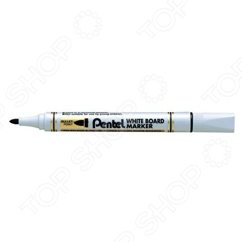 Маркер для досок Pentel MW85 канцелярский предмет, необходимый для разметки, маркировки и редактирования. Пригодится школьникам, студентам и офисным работникам. Наконечник круглый пулеобразный .
