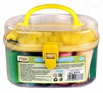 Набор теста для лепки Color Puppy 63777 превосходный подарок детям от трех лет. С этим замечательным набором процесс лепки превратится не просто в увлекательную игру, а в серьезное исследование. Ребенок сможет придумывать и создавать различные объекты самостоятельно или же с помощью взрослых. Занятия лепкой крайне полезны, поскольку направлены на развитие мелкой моторики рук и формирование творческого мышления. Масса изготовлена из растительных компонентов с добавлением пищевых красителей, поэтому абсолютно безопасна для здоровья ребенка. Она легко разминается, не липнет к рукам и рабочим поверхностям, а также не оставляет следов на одежде. Если смешать два или несколько цветов, то можно получить новые оттенки. В течение суток изделия из такого пластилина затвердевают на открытом воздухе. Набор включает аксессуары для лепки. Цвет крышки в ассортименте и зависит от наличия товарного ассортимента на складе.