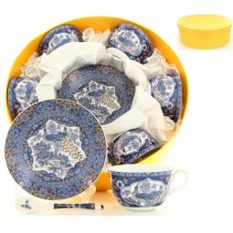Купить Чайный набор с ложками Elan Gallery «Павлин синий» 180787