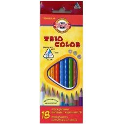 фото Набор карандашей цветных Koh-I-Noor Triocolor: 18 цветов