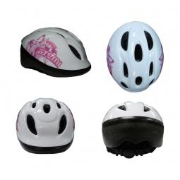 фото Шлем защитный ATEMI AJH-01. Цвет: белый, розовый. Размер: M (52-56)