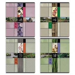 фото Тетрадь в клетку лакированная Erich Krause «Японский сад». В ассортименте