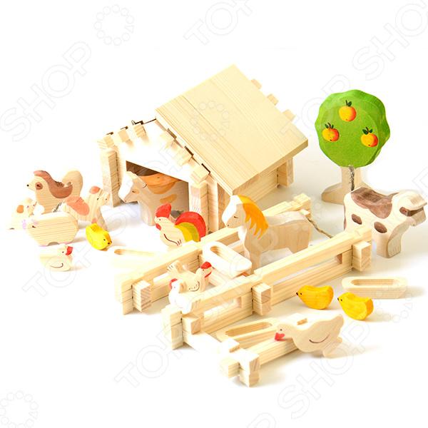 Конструктор деревянный Лесовичок «Солнечная ферма №4»Деревянные конструкторы<br>Конструктор деревянный Лесовичок Солнечная ферма 4 это отличный конструктор с помощью которого он сможет построить миниатюрную модель фермы. В комплекте есть подробная инструкция, которая позволит все делать четко и последователь. Детали отлично скрепляются между собой, кроме того, они выполнены из дерева и абсолютно безопасны для детского организма. Сборка такого конструктора поможет развить конструкторские и инженерные навыки, развить логическое и пространственное мышление, фантазию и мелкую моторику рук.<br>