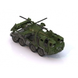 фото Машинка игрушечная Нордпласт «Военный тягач с щитом и вертолетом»
