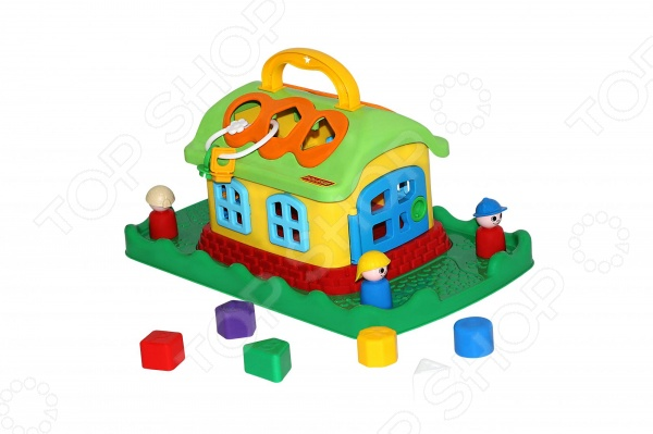 Игрушка-сортер развивающая Полесье «Сказочный домик на лужайке»
