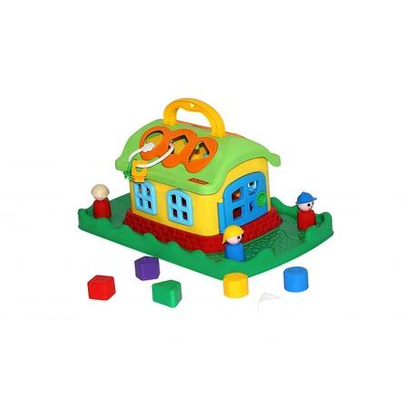 Купить Игрушка-сортер развивающая Полесье «Сказочный домик на лужайке»