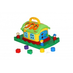 фото Игрушка-сортер развивающая Полесье «Сказочный домик на лужайке»
