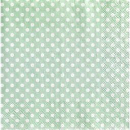 фото Набор салфеток Tilda зеленый в горошек