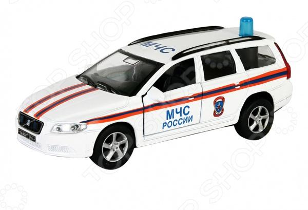 Машинка коллекционная Пламенный Мотор Volvo МЧСМодели авто<br>Volvo МЧС России представляет собой точную копию настоящего служебного автомобиля. Коллекционная модель выпущена известной компанией по производству игрушек Пламенный Мотор. Особенность коллекции в том, что все модели изготовлены по лицензии именитых автопроизводителей. Машина изготовлена из металла с элементами пластика и оснащена инерционным механизмом, а также световыми и звуковыми эффектами, что сделает игровой процесс еще более захватывающим. У нее открываются передние двери, вращаются колеса. Яркий автомобиль разнообразит игровые ситуации, откроет новые сюжеты для маленького автолюбителя и поможет развить воображение, мелкую моторику рук, внимание и координацию движений. Не упустите шанс порадовать ребенка замечательным подарком!<br>