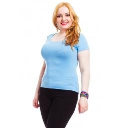 фото Футболка Mondigo XL 490. Цвет: голубой. Размер одежды: 52