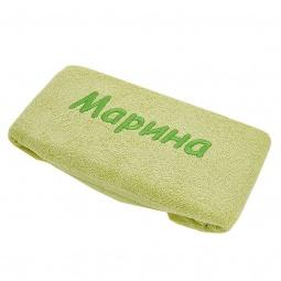 фото Полотенце подарочное с вышивкой TAC Марина. Цвет: зеленый