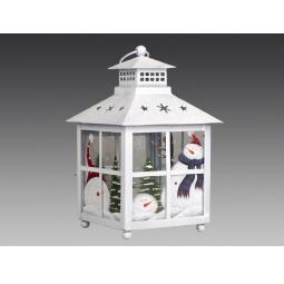 фото Фонарь рождественский Holiday Classics большой «Старинные окна»