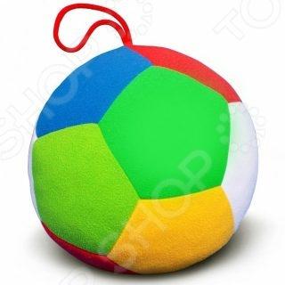 цена Мягкая игрушка развивающая Мякиши «Футбол с погремушкой»