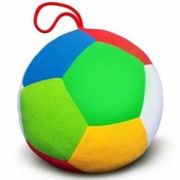фото Мягкая игрушка развивающая Мякиши «Футбол с погремушкой»