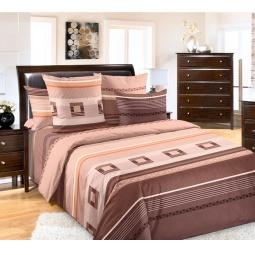 фото Комплект постельного белья Белиссимо «Эдгар». 2-спальный. Цвет: коричневый. Размер простыни: 220х240 см