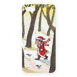 фото Чехол для iPhone 5 Mitya Veselkov «Дед Мороз в лесу»