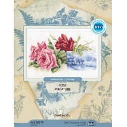фото Набор для вышивания RTO «Миниатюра с розами»
