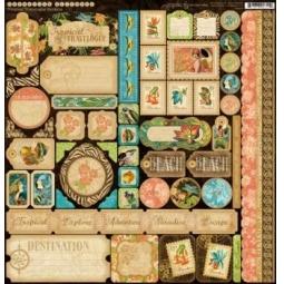 фото Набор стикеров Graphic45 Olde T.T. Travelogue