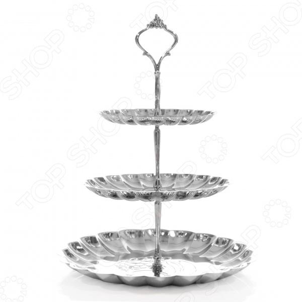Ваза 3-ярусная Mayer&amp;amp;Boch MB-20213Сахарницы. Конфетницы<br>Ваза 3-ярусная Mayer Boch MB-20213 станет прекрасным дополнением к набору посуды и отлично подойдет для сервировки праздничного стола. Модель снабжена тремя ярусами и предназначена для подачи фруктов и различных сладостей конфет, печенья, зефира, вафель, пряников и т.д. . Торговая марка Mayer Boch это синоним первоклассного качества и стильного современного дизайна. Компания занимается производством и продажей кухонных инструментов, аксессуаров, посуды и т.д. Функциональность, практичность и инновационные решения вот основные принципы торгового бренда Mayer Boch.<br>