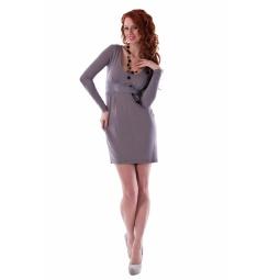 фото Платье Mondigo 8604. Цвет: карамельный. Размер одежды: 44