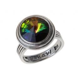 фото Кольцо Jenavi Эмбаси. Вставка: Swarovski разноцветный кристалл