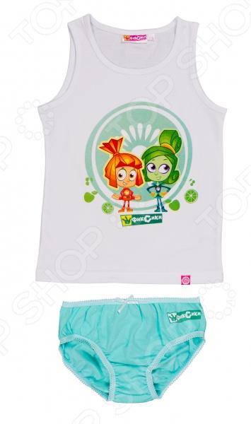 Комплект нижнего белья для девочки: майка и трусы «Фиксики. Симка и Верта»