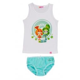 Купить Комплект нижнего белья для девочки: майка и трусы «Фиксики. Симка и Верта»