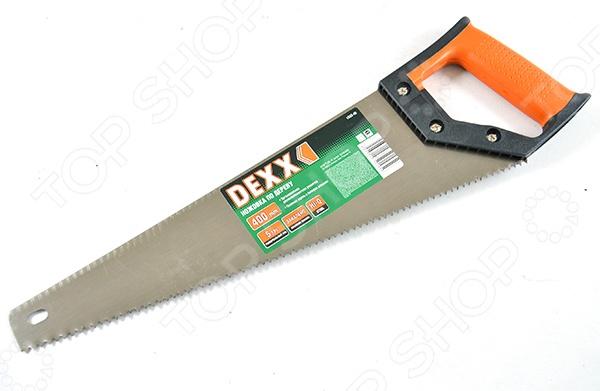 Ножовка по дереву DEXX «Хобби» 1502-40Лобзики. Ножовки. Пилы<br>Ножовка по дереву DEXX Хобби 1502-40 с двухкомпонентной рукояткой применяется для распиливания бревен, досок и других деревянных заготовок из не очень твердых материалов. Такой инструмент будет незаменимым на приусадебном или дачном участке, в мастерской и просто в быту. У ножовки заточенные разведенные универсальные зубья объемной закалки.<br>