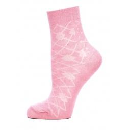 фото Носки женские ажурные Burlesco C693Ю. Цвет: розовый. Размер: 23
