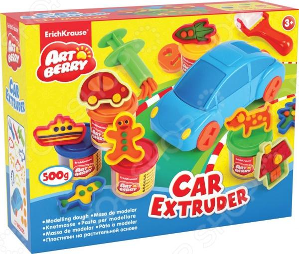 Набор пластилина на растительной основе Erich Krause Car Extruder