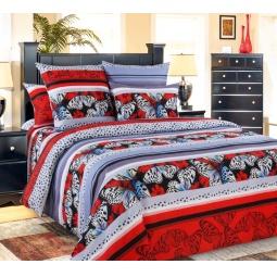 фото Комплект постельного белья Белиссимо «Мистика». 2-спальный. Цвет: красный
