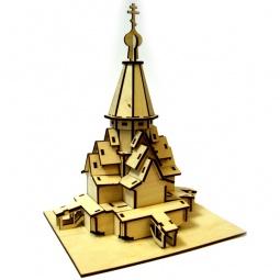 фото Сборная модель из фанеры RTO «Храм Успения прс.Богородицы в с. Варгуза»