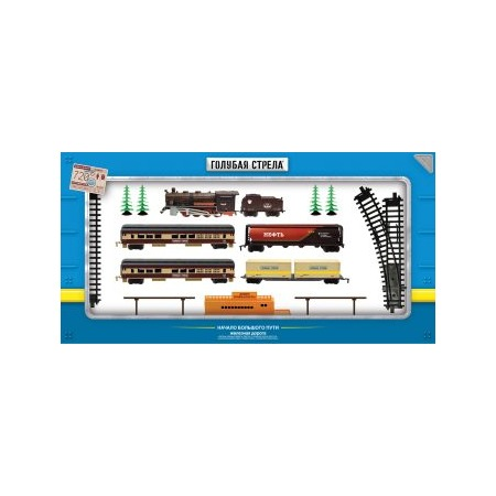Купить Набор железной дороги игрушечный Голубая стрела 87136