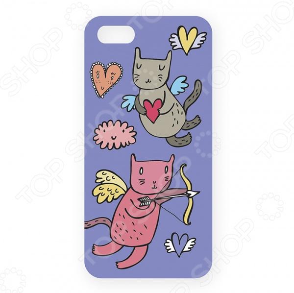 Чехол для iPhone 5 Mitya Veselkov «Коты-амуры» 201 обложка для паспорта коты амуры на сиреневом ozam359