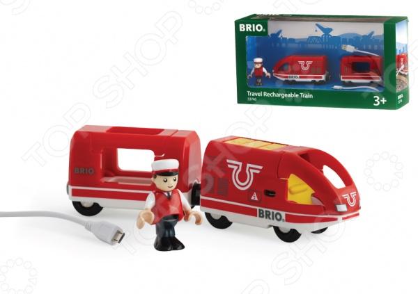 все цены на Поезд игрушечный Brio с USB подзарядкой онлайн