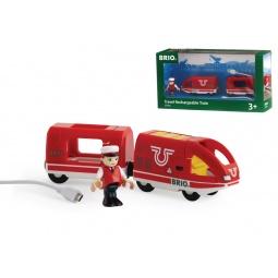 фото Поезд игрушечный Brio с USB подзарядкой