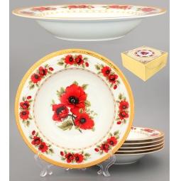 Купить Набор суповых тарелок Elan Gallery «Маки»