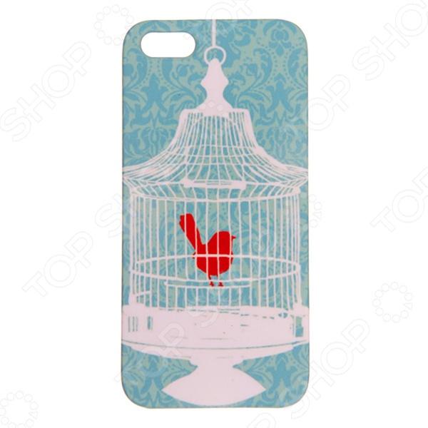 Чехол для iPhone 5 Mitya Veselkov «Птичка в клетке»