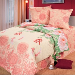 фото Комплект постельного белья Комфорт «Японский сад». Евро